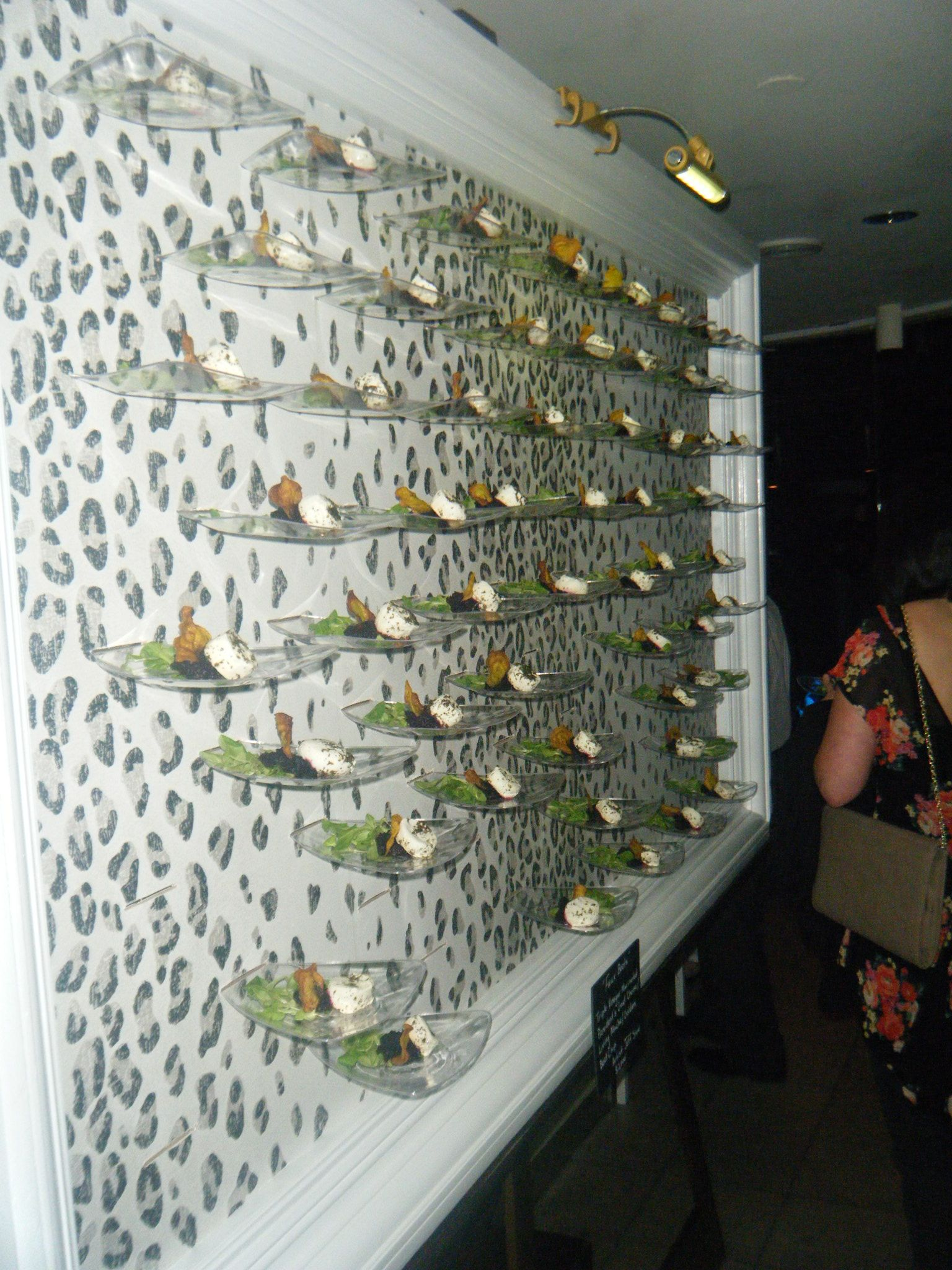 Plate Wall Of Salads Catersource 2012 Catering By