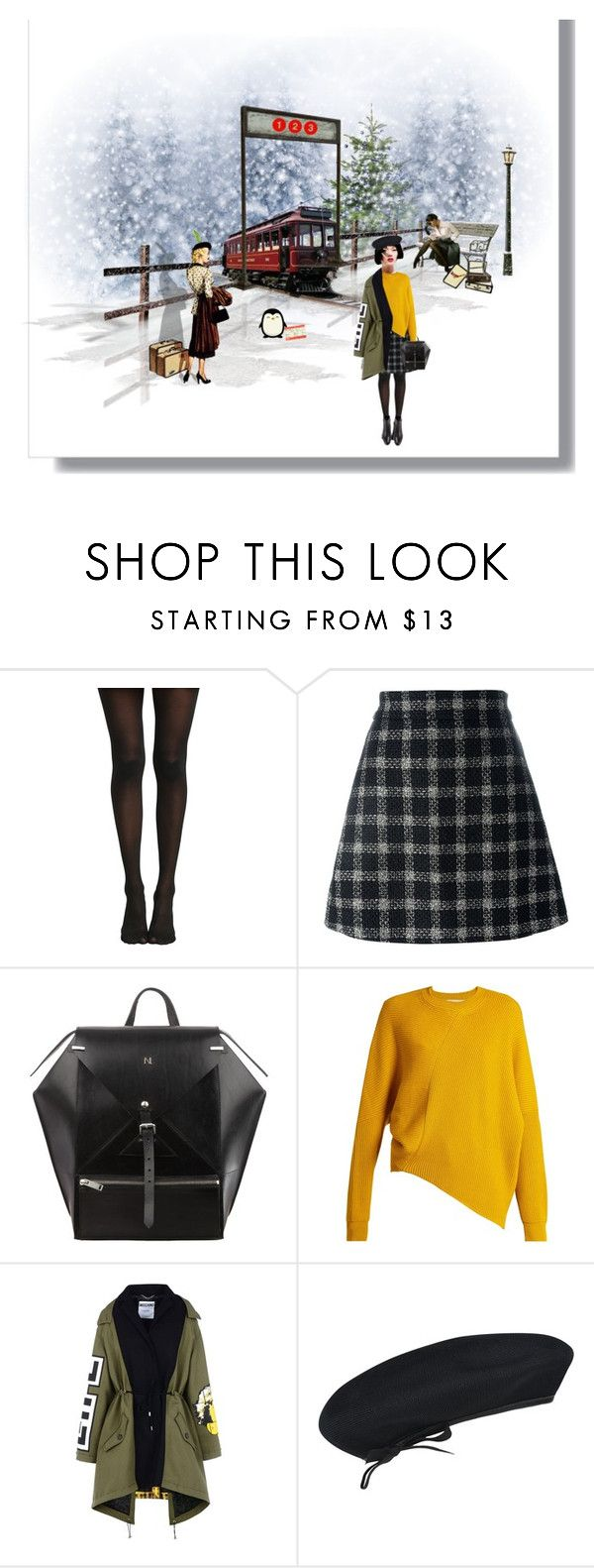 """Waiting for the train"" by anna17682 on Polyvore featuring RCA, Hansen, Gucci, STELLA McCARTNEY, Moschino e kangol"