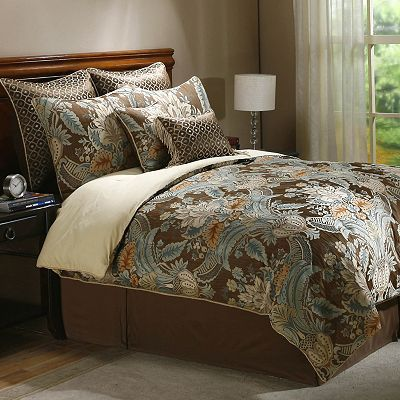 Paisley Bedding Sage And Brown Comforter Sets Queen