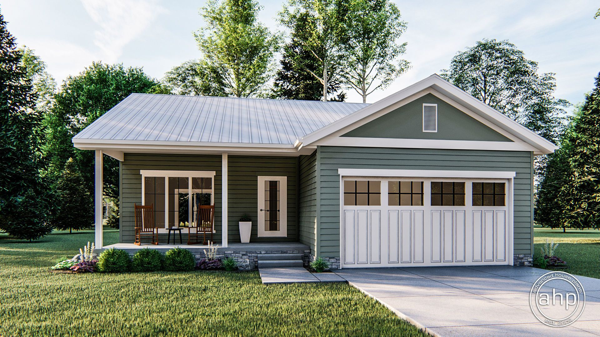 1 Story Traditional House Plan | Gunnison | Cottage house plans ...