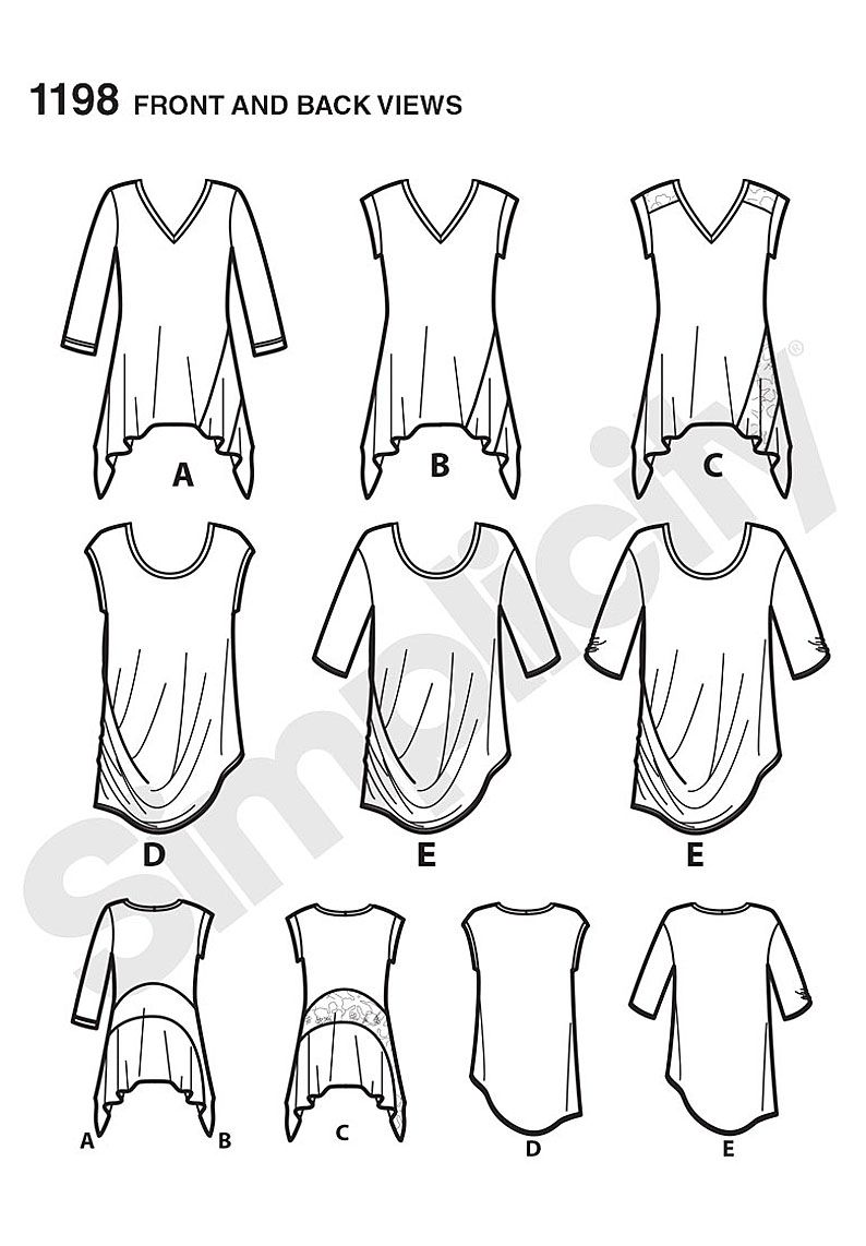 Simplicity Creative Group - Misses\' Knit Tops in Two Styles | PLUS ...