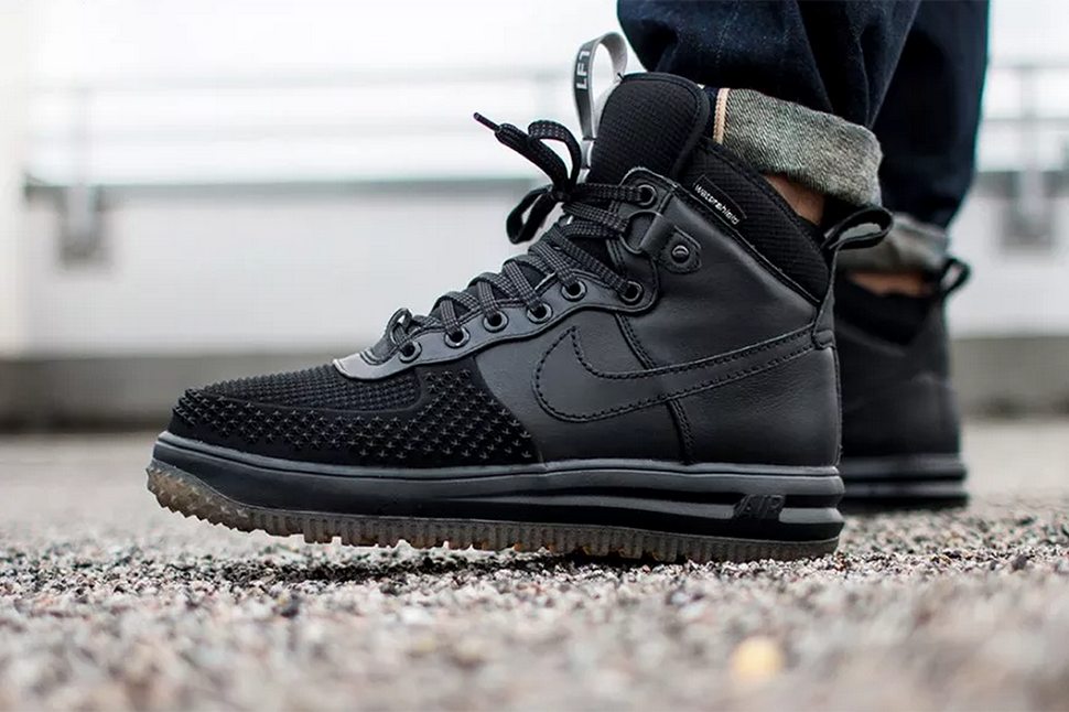 nike lunar force 1 duck boot anthracite color