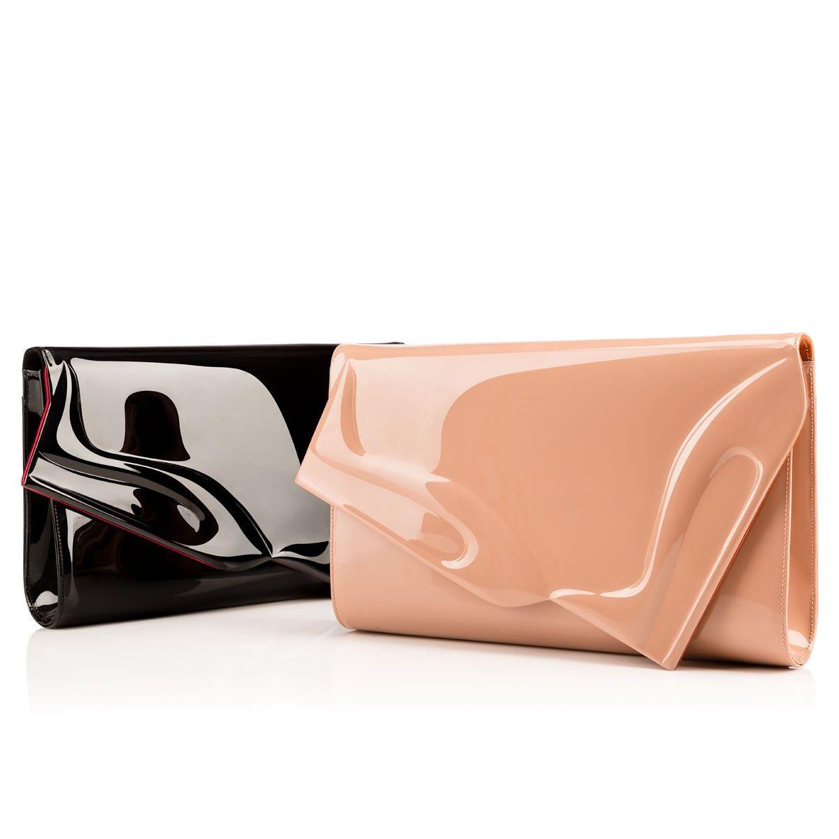 abd0669c9c1 So Kate Baguette Clutch Nude Patent Leather - Handbags - Christian ...