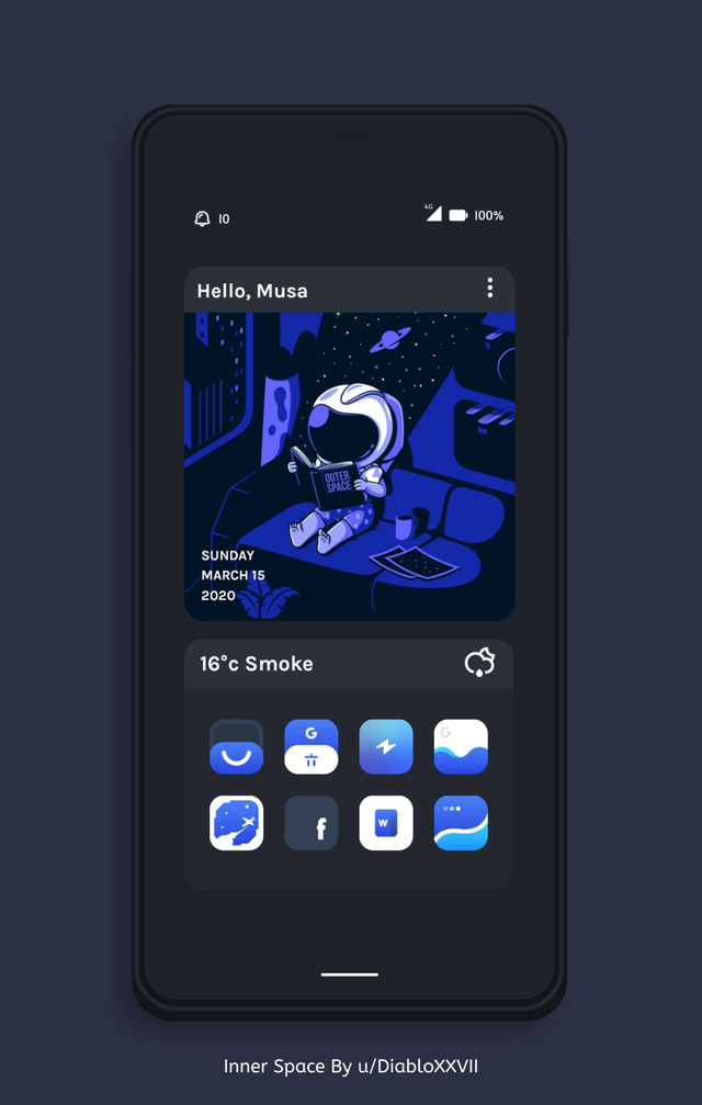 [Theme] Inner Space kustom in 2020 Phone themes