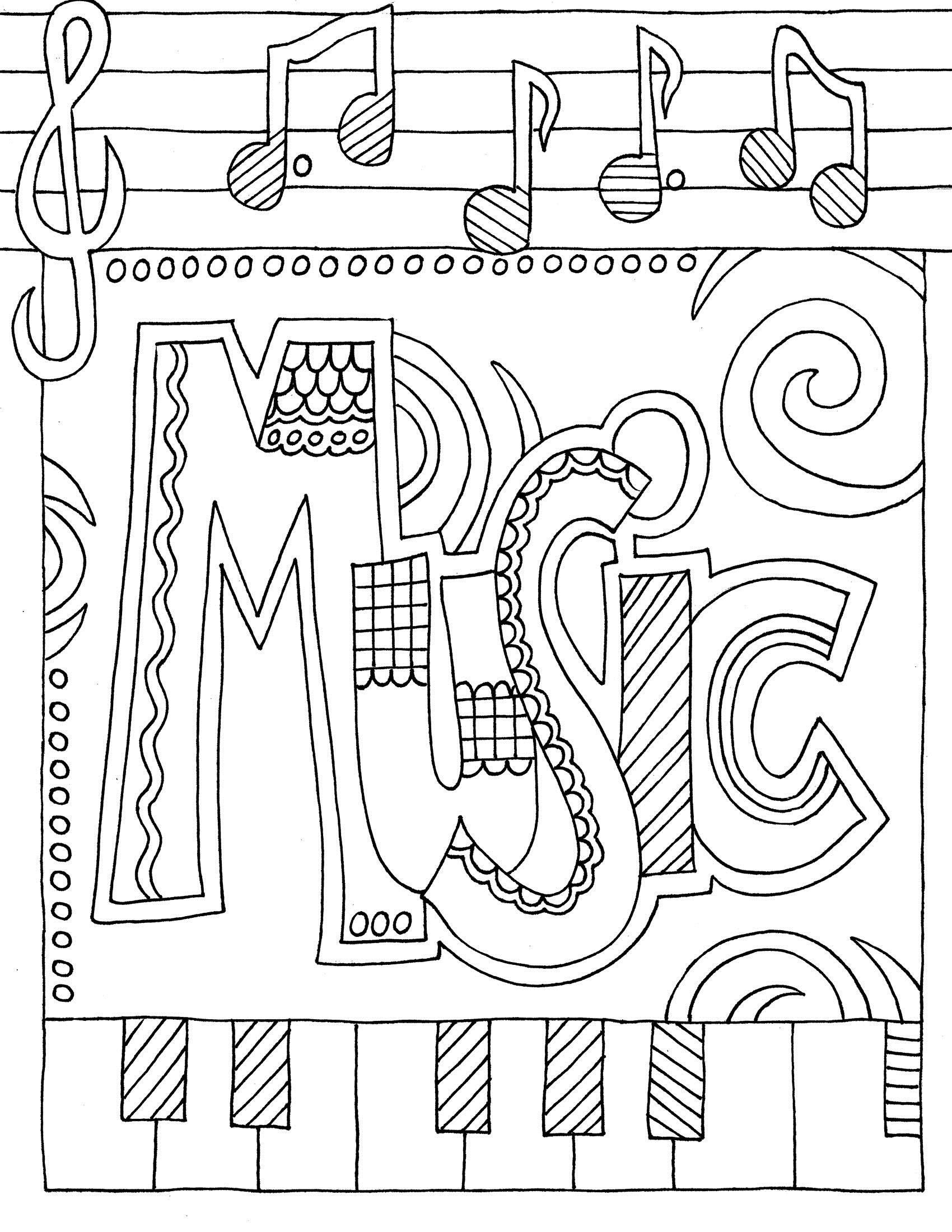 Best 20 Printable Coloring Pages Music In 2020 Music Coloring Music Coloring Sheets Elementary Music [ 2200 x 1700 Pixel ]