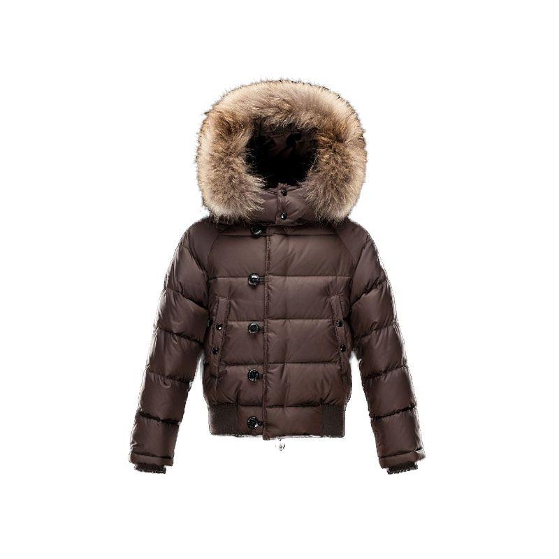 Kids Moncler Brown Enfant Bulgare Jacket | Discounts→Down
