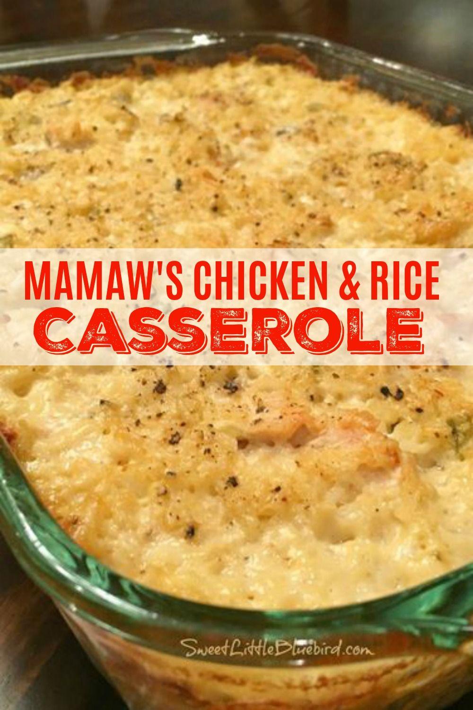 Mamaw's Chicken & Rice Casserole