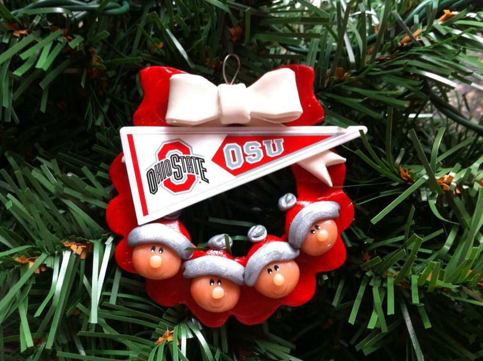 Personalized OHIO STATE Wreath Family Polymer by MISTYSCLAYCUTIES ...