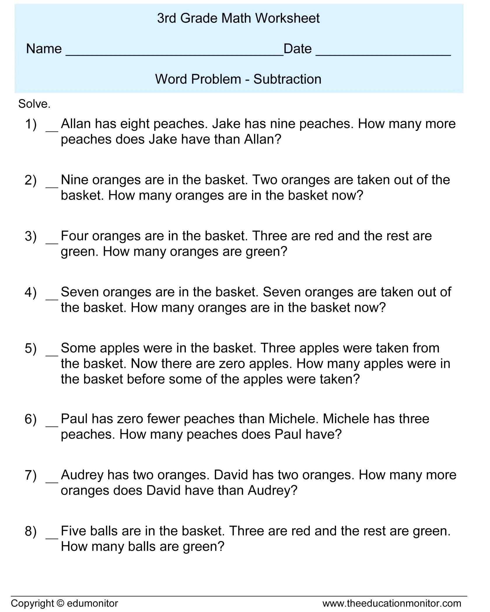 3 Worksheet Free Math Worksheets Sixth Grade 6 Integers