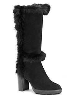 d95675f4adf Aquatalia - Imelda Shearling   Suede Tall Boots