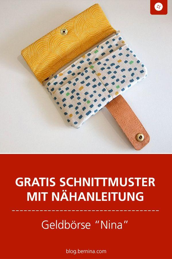 """Photo of Kostenloses Schnittmuster mit Nähanleitung (Freebook): Brieftasche & Geldbörse """"Nina"""" nähen"""