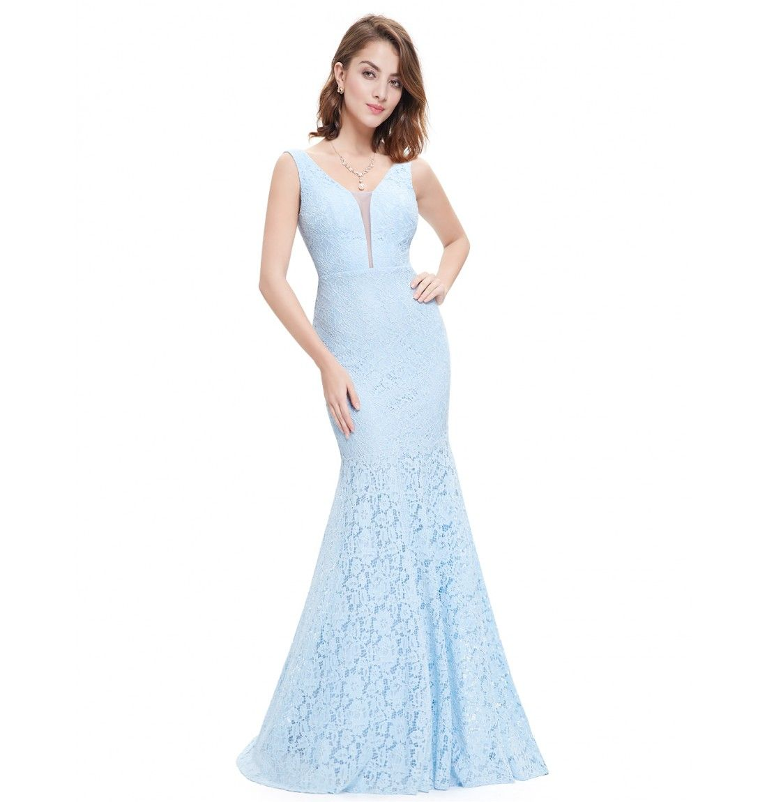 spitzen damen meerjungfrau abendkleid hellblau hellblau pinterest meerjungfrau abendkleid. Black Bedroom Furniture Sets. Home Design Ideas