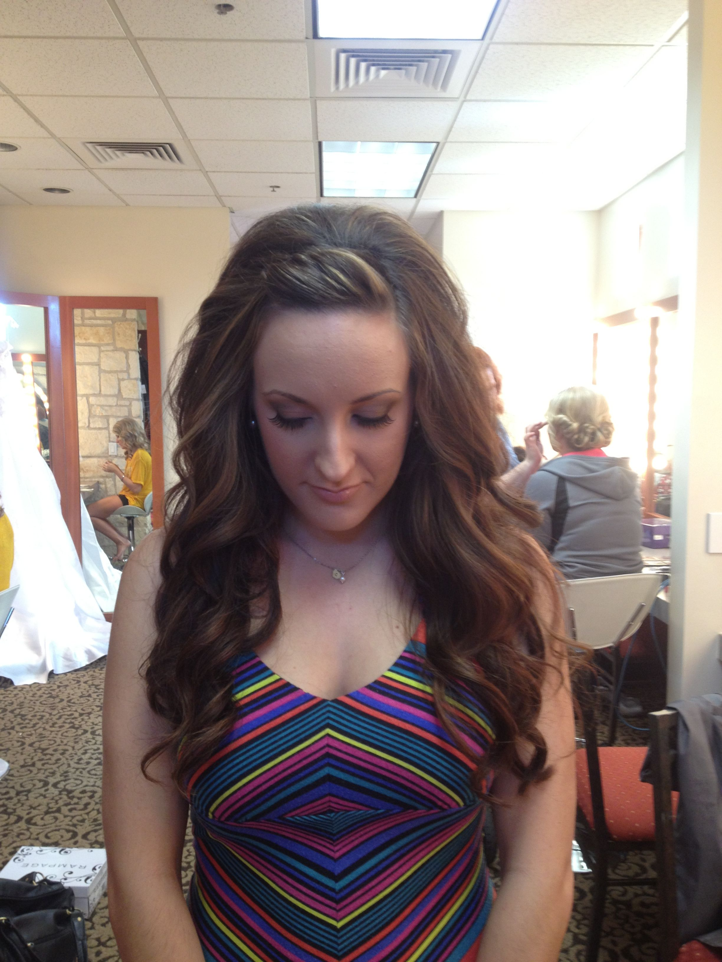 Long loose waves with pinned bangs | Hair! | Hair, Hair ...