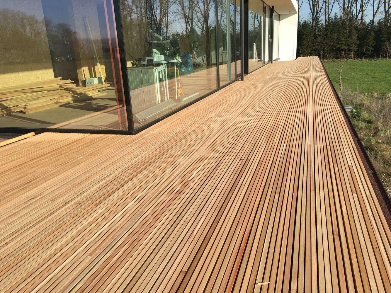 Voorbeeld houten terras lork lines pomysły do domu