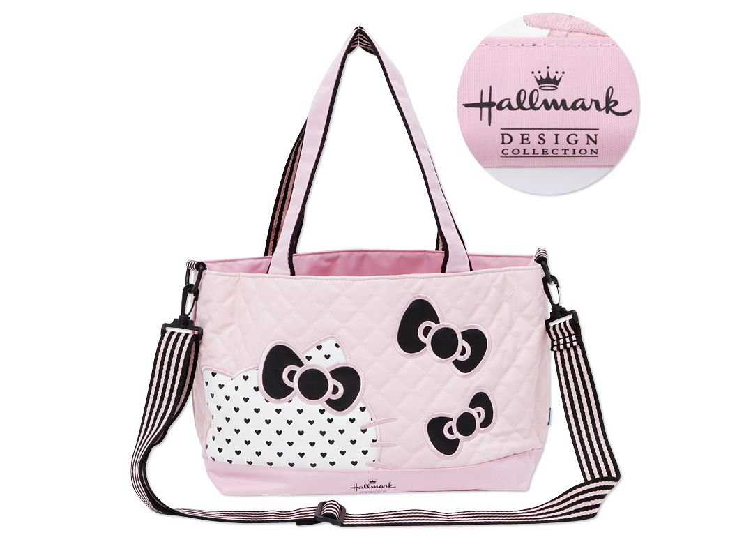 d42dda80d8a7 Hello Kitty x Hallmark 2 Way Tote Shoulder Bag Pink with Pouch   Sheet