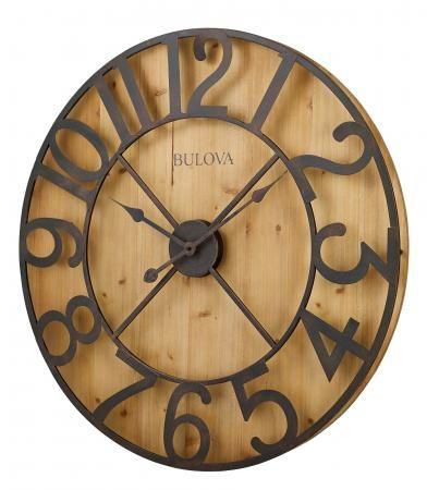 28 75in Bulova Wall Clock Gtb31294 Oversized Wall Clock Bulova Wall Clock Rustic Wall Clocks