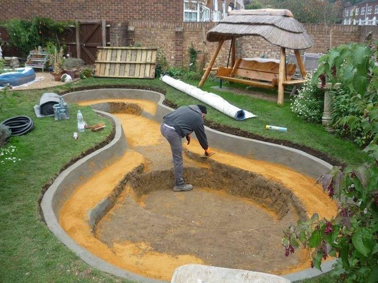 Creare un piccolo laghetto in giardino pergola gazebo for Laghetto per pesci