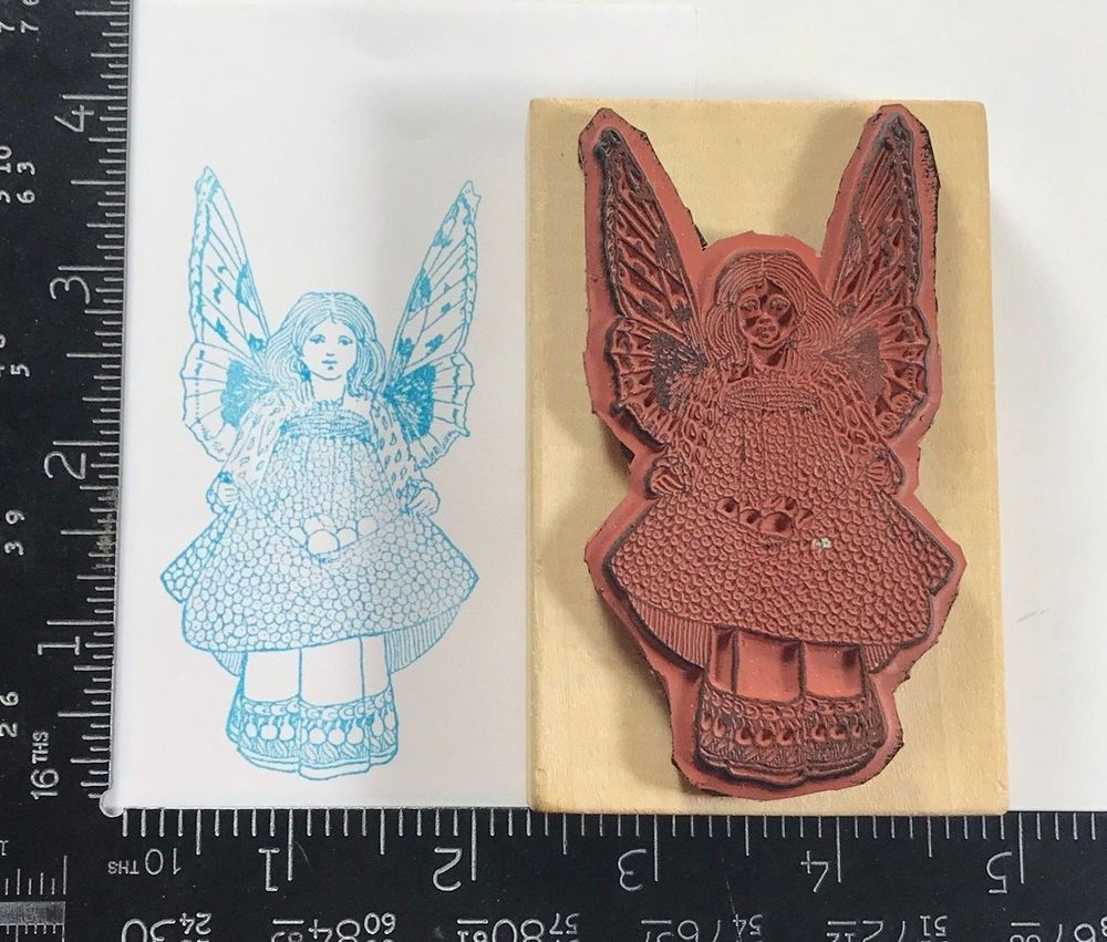 rubber stamp angel wings church