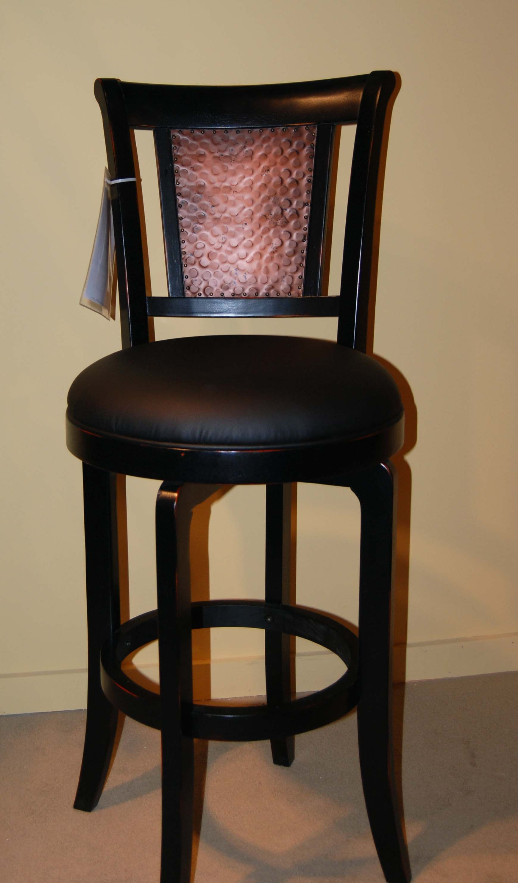 Furniture Black Wooden Swivel Bar Stools Having Round Black Leather Seat Cover And Wooden Back Remarkable Barhocker Barhocker Holz Barhocker Mit Ruckenlehne