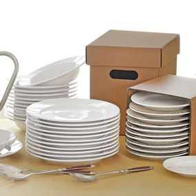 CHEFS White Porcelain Catering Pack Dinnerware, Sets of 12