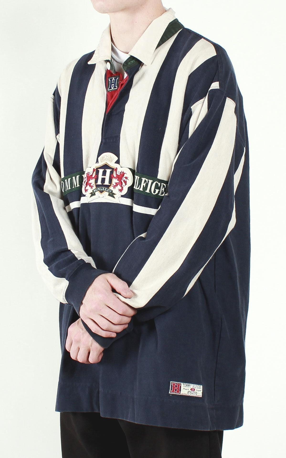 ac8af9597 Vintage Tommy Hilfiger Long Sleeve Rugby Shirt Sz XL