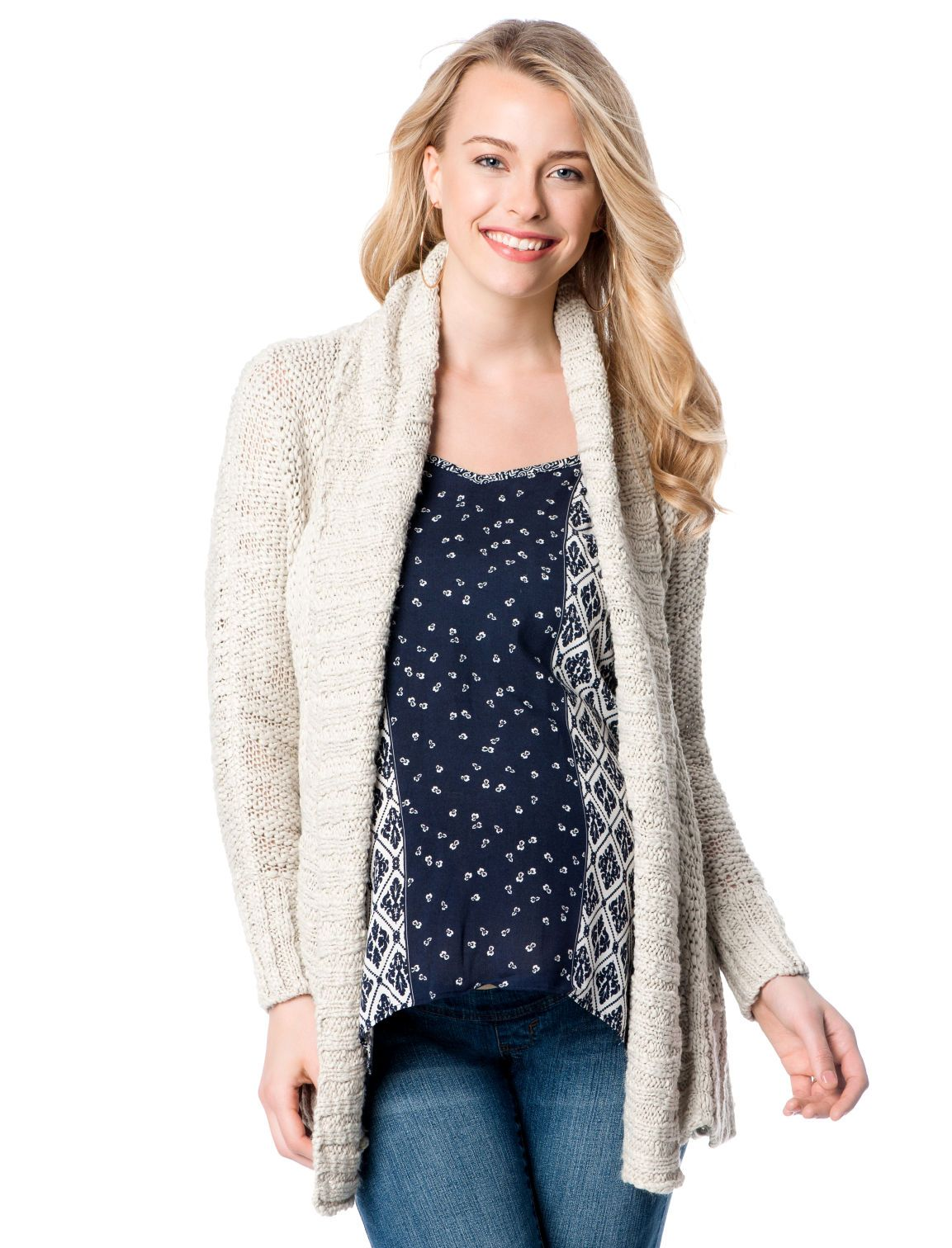 98b725d5a6ba the softest and comfiest chunky knit maternity sweater by Motherhood ...