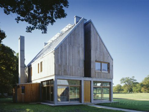 The Lodge Whithurst Park Exterior Modern Rural House with Pitched