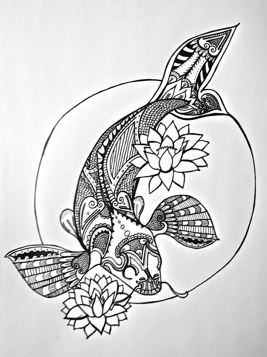 Japanese Sunrise line art by RoseRed66deviantart