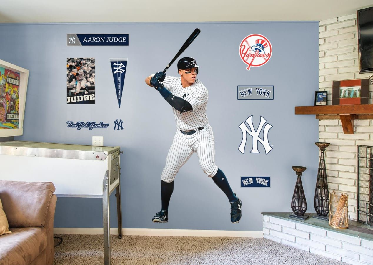 Boys Baseball Bedroom Man Cave Sports Gift Aaron Judge Of The New York Yankees On Of Our April Bes Boys Baseball Bedroom Baseball Bedroom Sports Room Boys