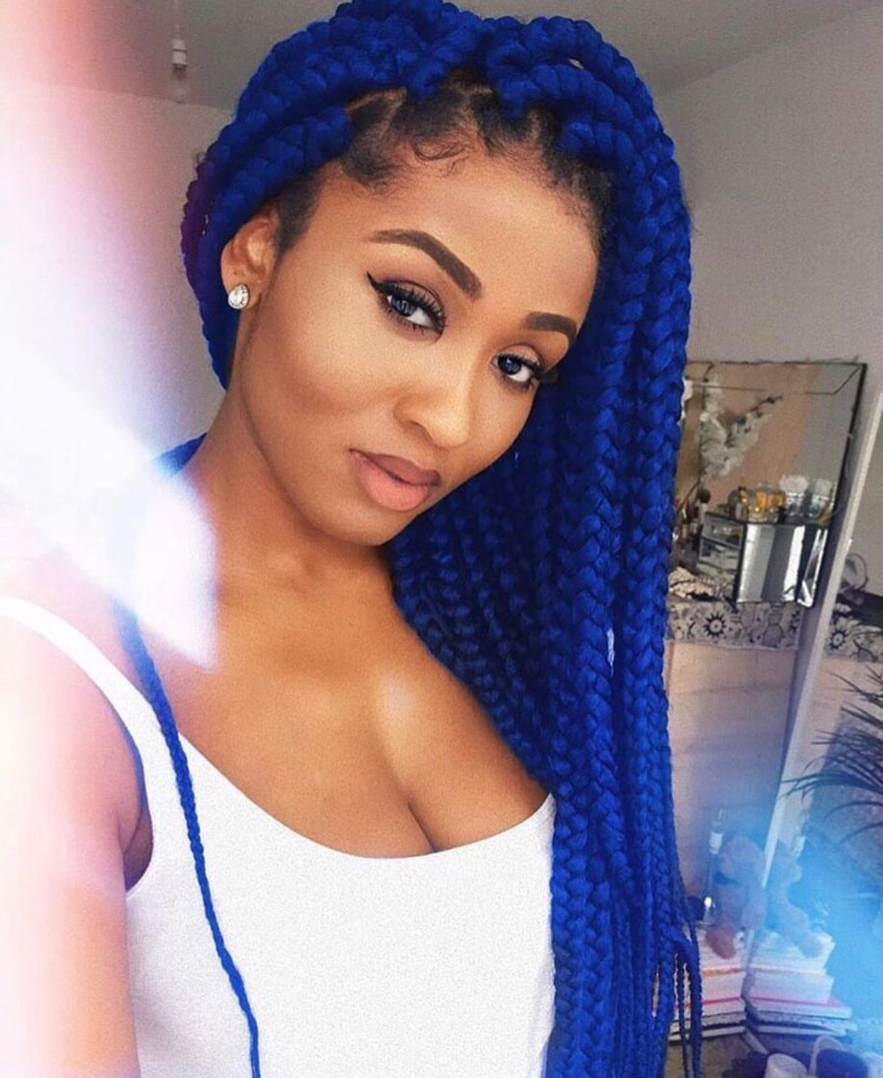 Box Braids Hairstyles By Melanin Beloved On Color