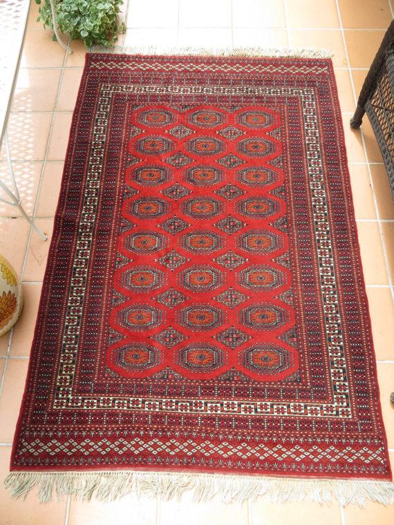 vintage bokhara wool rug rich reds orange 74 x boho style rugs rug styles vintage rugs on boho chic kitchen rugs id=62025