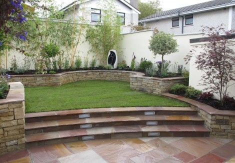 Split level garden design landscaping stillorgan for Split level garden designs