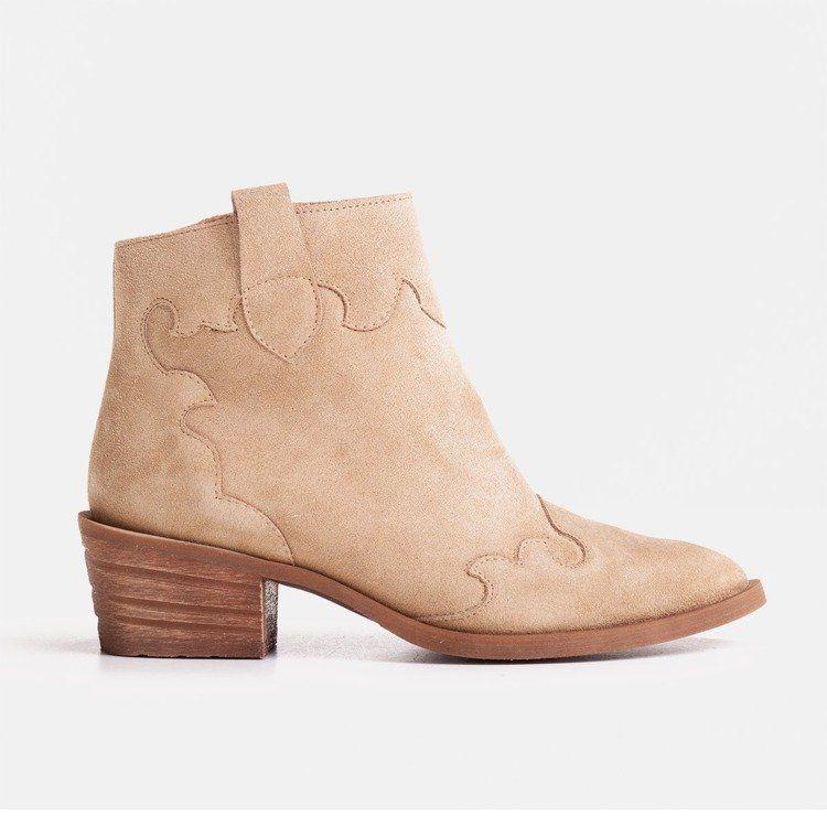 Bezowe Botki Z Naturalnego Zamszu Bez Ocieplenia Sklep Marcoshoes Eu Shoes Ankle Boot Boots
