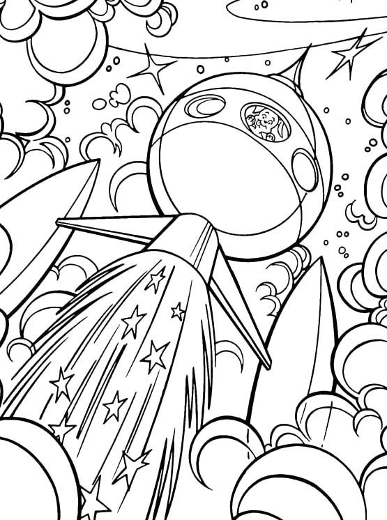 Printable Dog Coloring Pages A Rabbit And A Dog Are Under The Space Coloring Pages