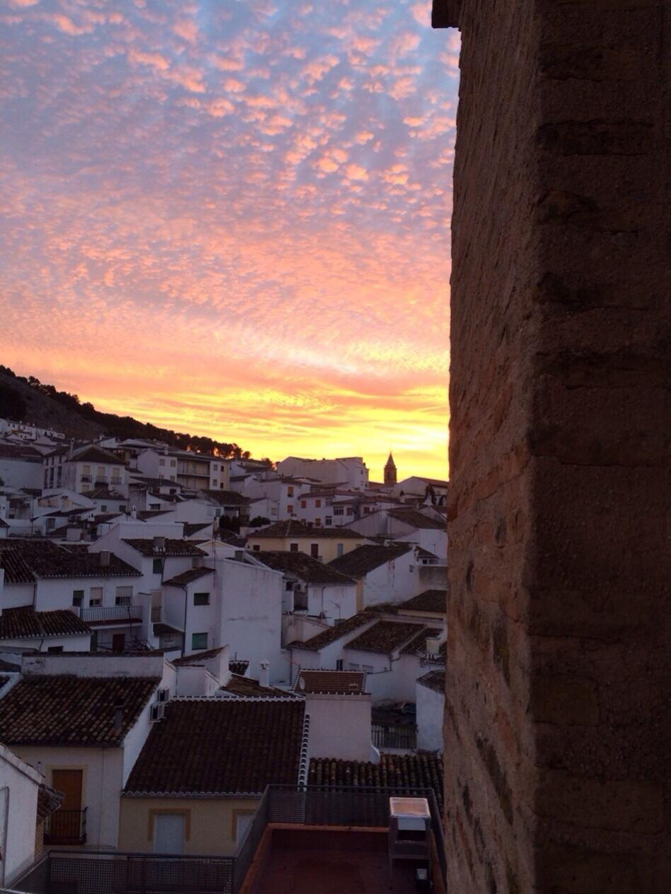Buenos días! #HECSD amanecer en #archidona #andalucia! Desde la #espadaña de la #escuela