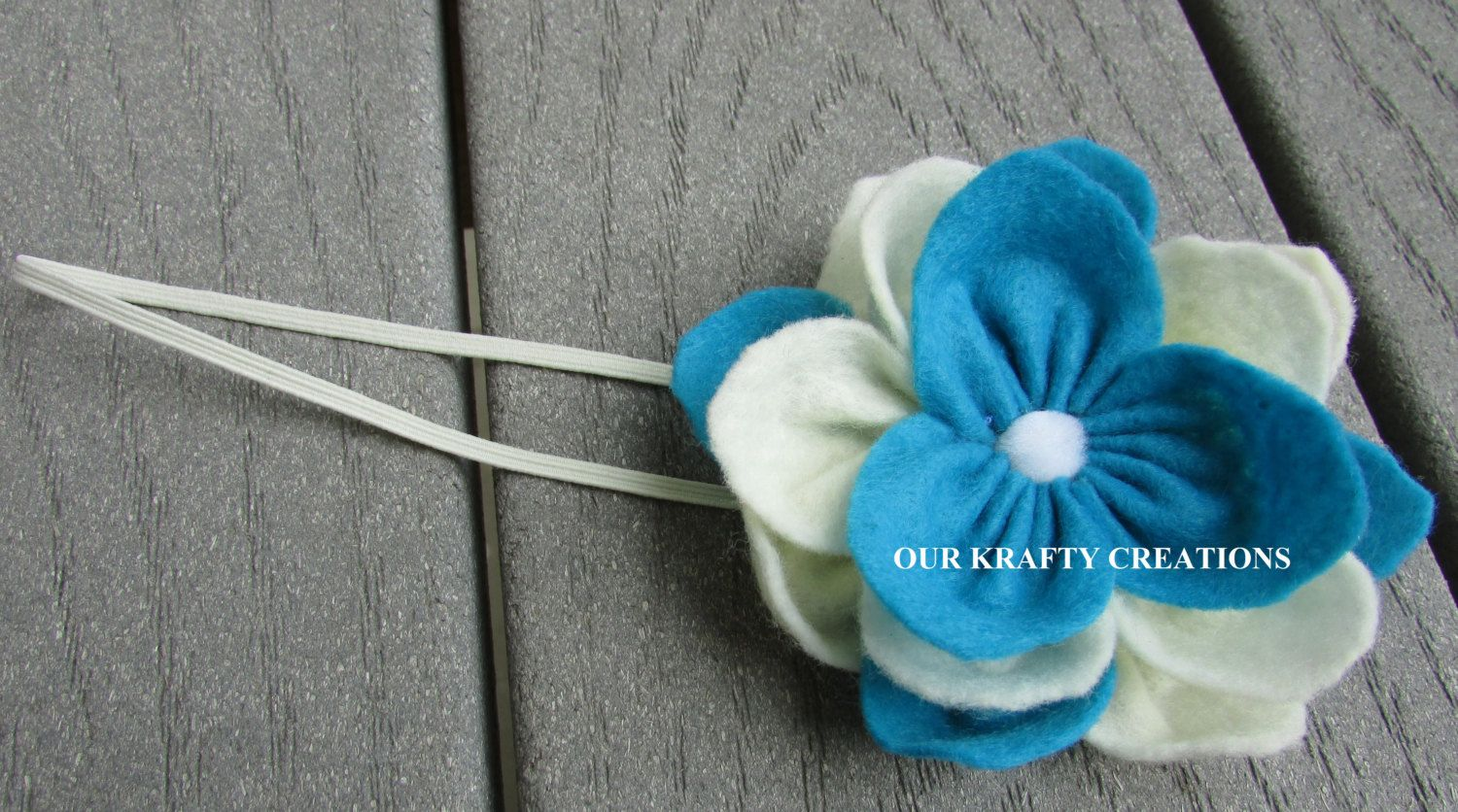 Winter Photo Shoot, Girl Headband, Lotus Flower, Newborn Headband, Felt Headband, Baby Shower Gift by OurKraftyCreations on Etsy