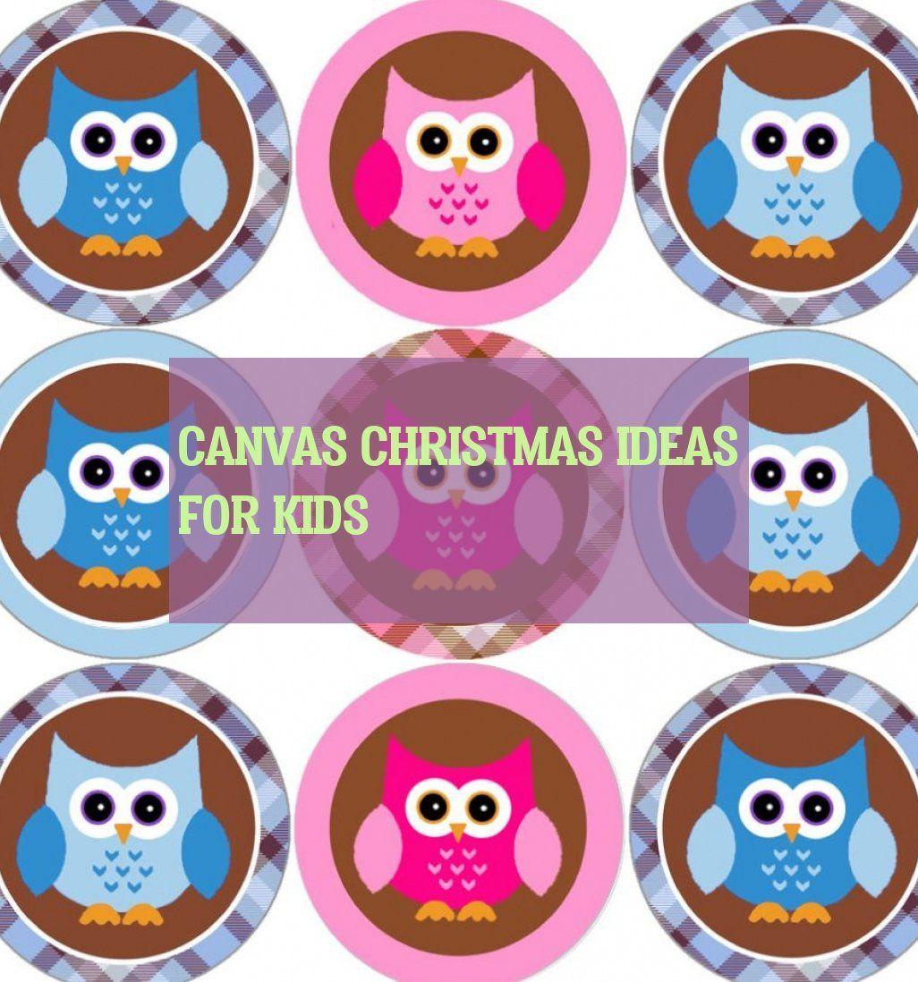 canvas christmas ideas for kids