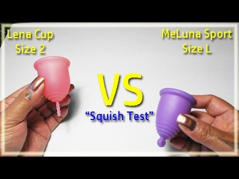"Lena vs MeLuna SPORT ""Squish Test"" - Menstrual Cups"