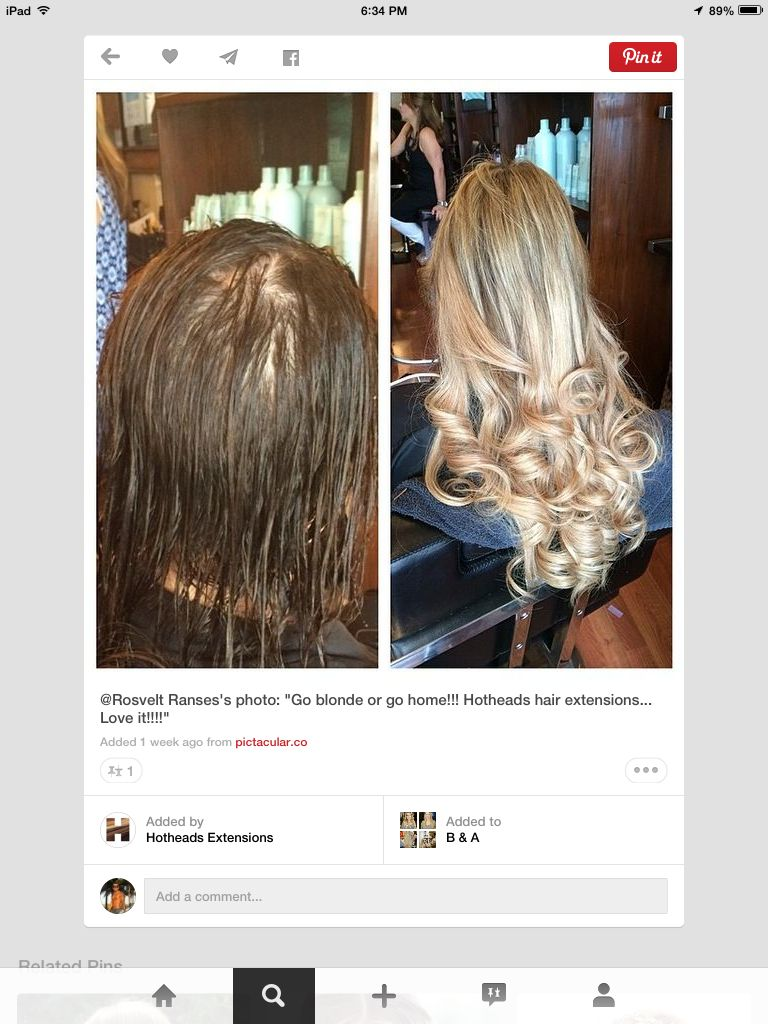 Before And After Hair Extension Miami Gentlemen Prefer Blonde