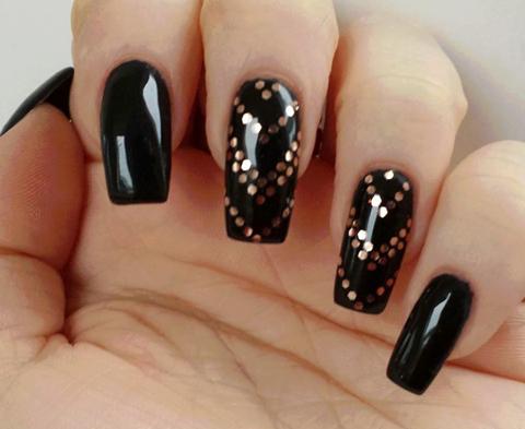 pinsusan wilm on nailed it  black gold nails nail
