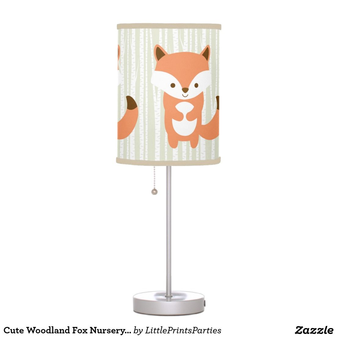 Cute Woodland Fox Nursery Lamp Zazzle
