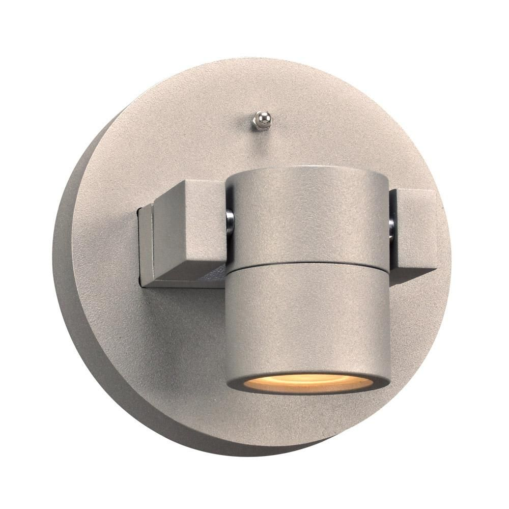 Plc lighting sl lydon led inch silver outdoor wall light