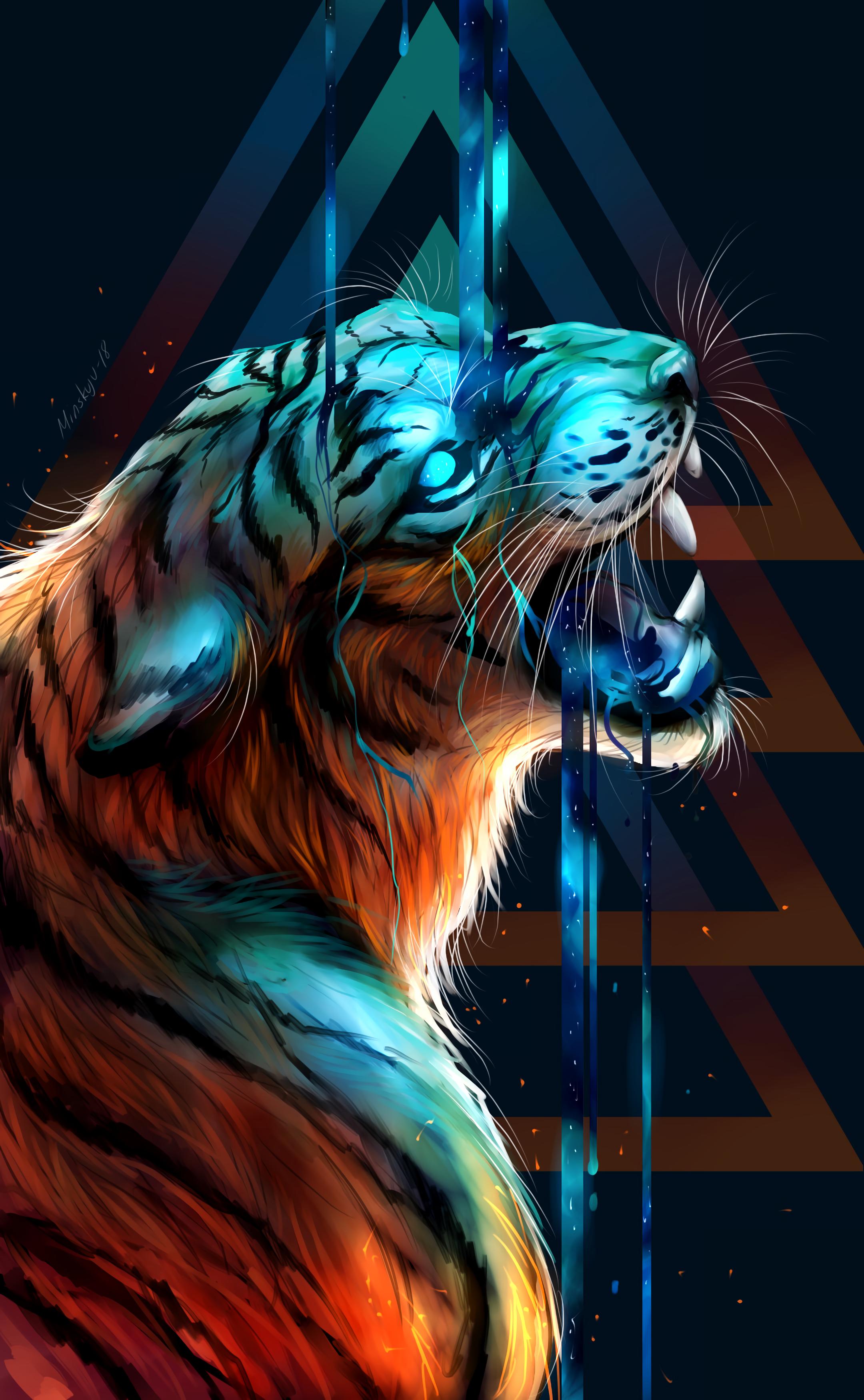 Tiger Wallpaper Pinturas De Animais Arte Sobre Animais Selvagens Papel De Parede De Animais