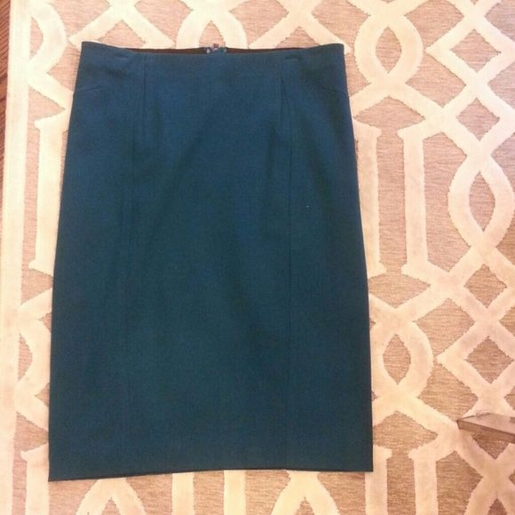 Teal knee length pencil skirt Knee length teal pencil skirt. Great condition worn only a few times Ann Taylor Skirts Pencil