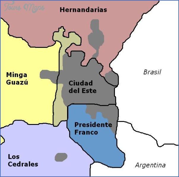 cool Ciudad del Este Map Paraguay Tours Maps Pinterest