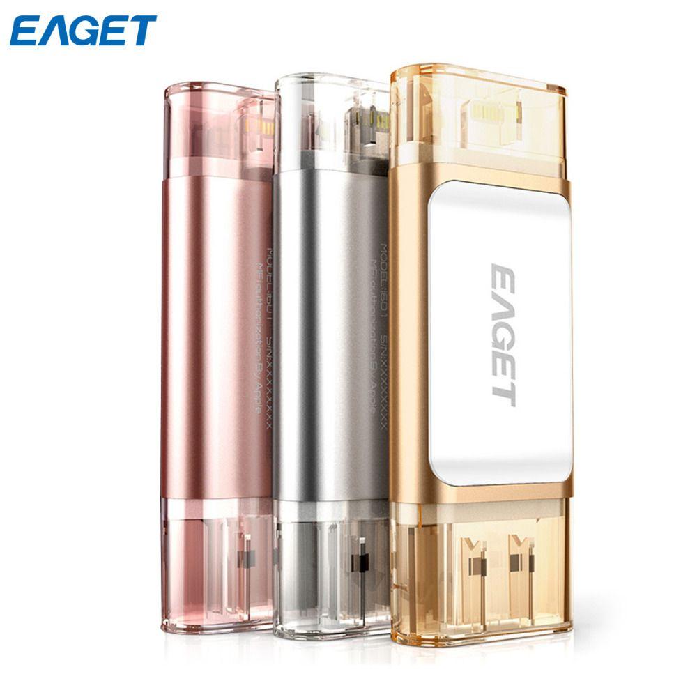 Eaget i60 pendrive Otg usb 3.0 MFI usb flash drive 64GB 128GB 32GB for iphone pen drive for ipad External Storage usb stick IOS