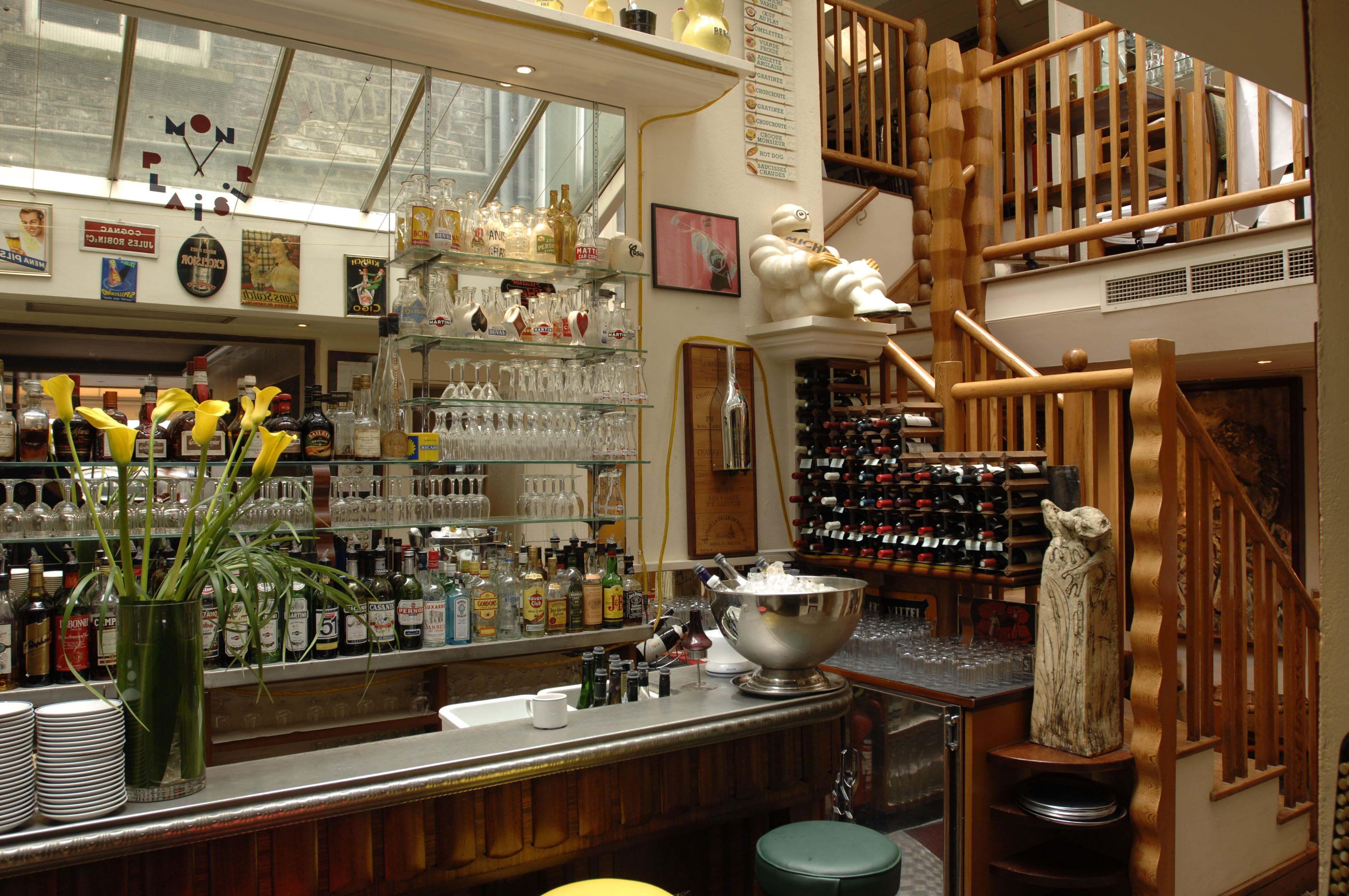 Our bar area - Mon Plaisir Restaurant | French restaurants ...