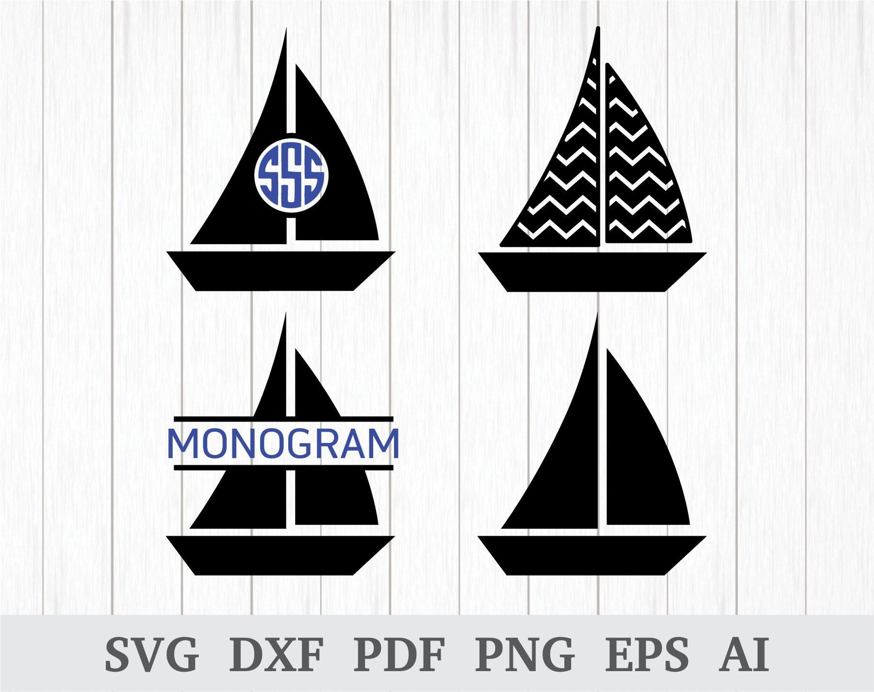 This is a sailboat making a wake vinyl cut great for car or laptop!!!