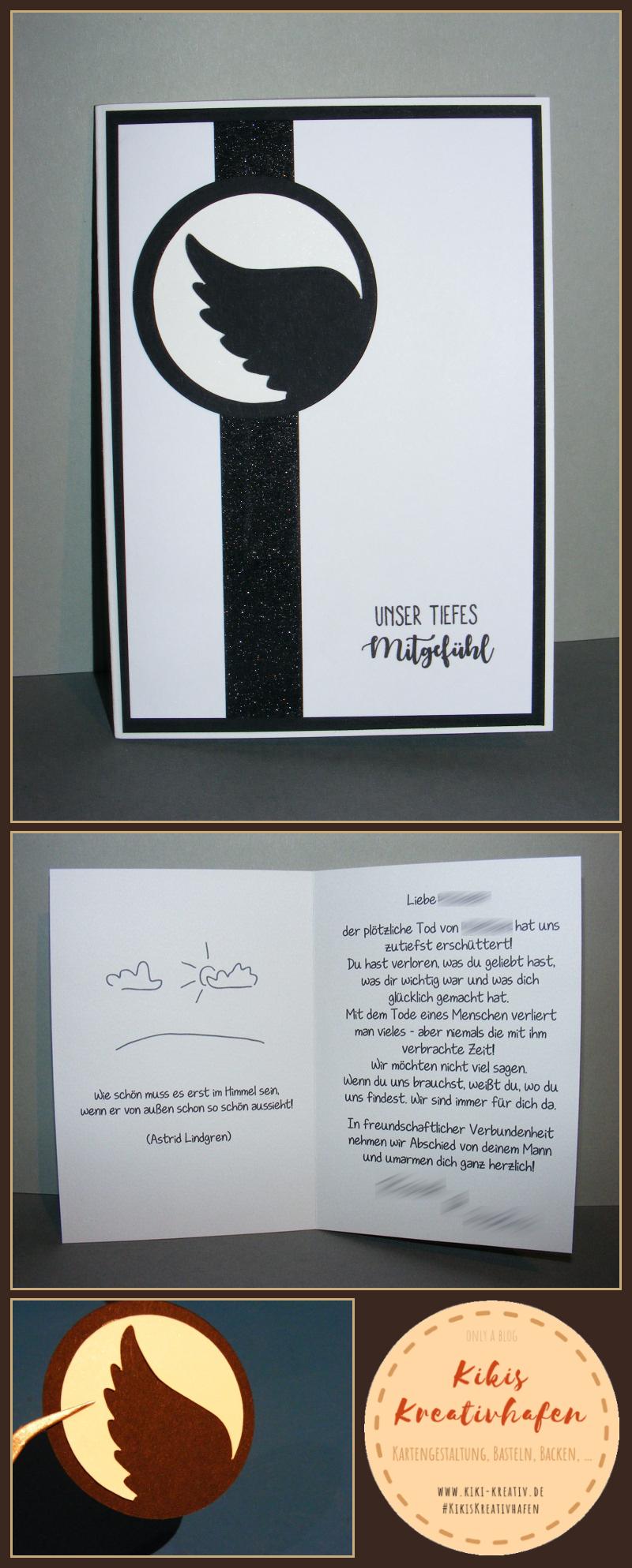 bastelecke trauerkarte 12 engelsfl gel. Black Bedroom Furniture Sets. Home Design Ideas