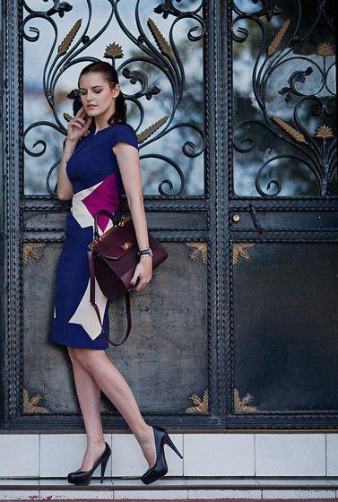 Viktoriya Sener - Hybrid Luxe Crepe Equinox Colour Block Dress, Accessorize Bag, Asos Shoes - THIS DRESS